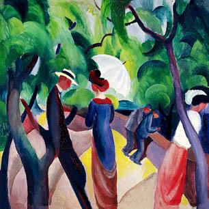 August Macke Canvas Art Prints